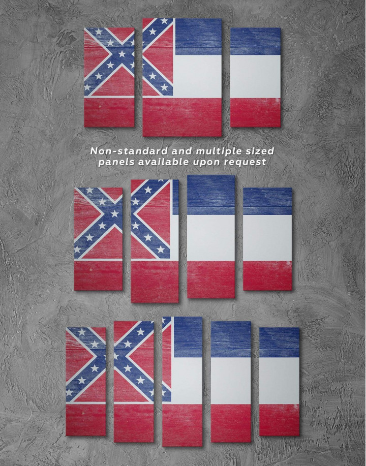 Mississippi Flag Canvas Wall Art - Image 1