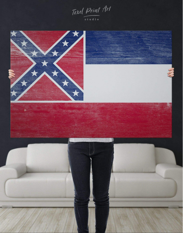 Mississippi Flag Canvas Wall Art - Image 3