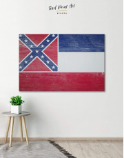 Mississippi Flag Canvas Wall Art