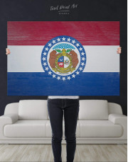 Missouri Flag Canvas Wall Art - Image 4
