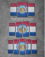 Missouri Flag Canvas Wall Art - Image 2