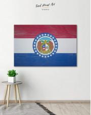 Missouri Flag Canvas Wall Art