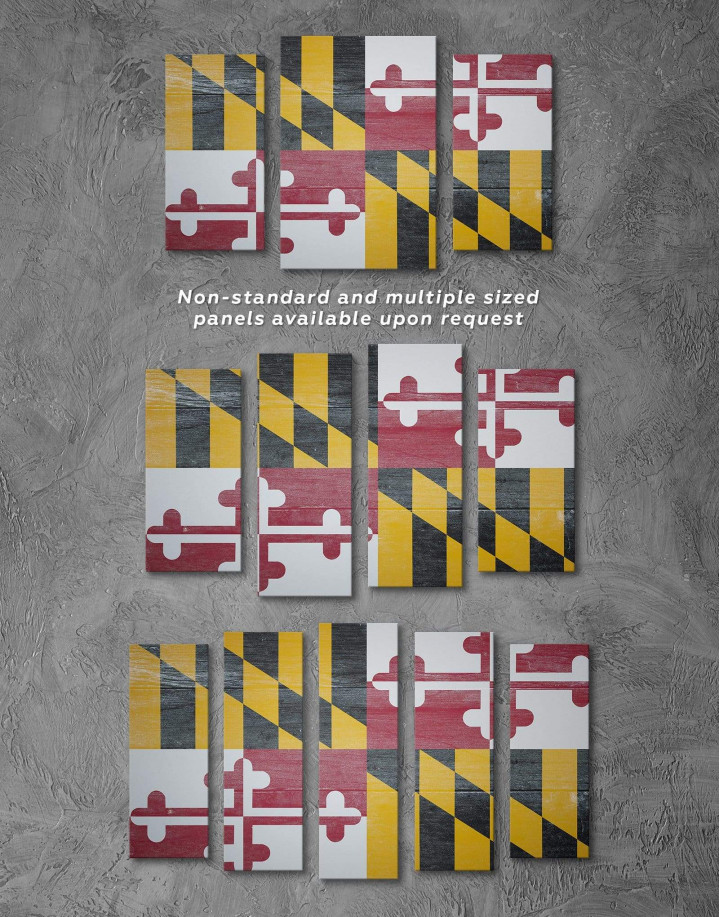 Flag of Maryland Canvas Wall Art - Image 2