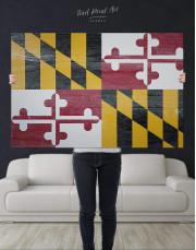 Flag of Maryland Canvas Wall Art - Image 4