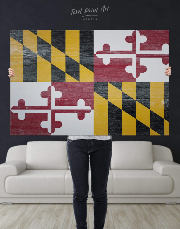 Flag of Maryland Canvas Wall Art - Image 4