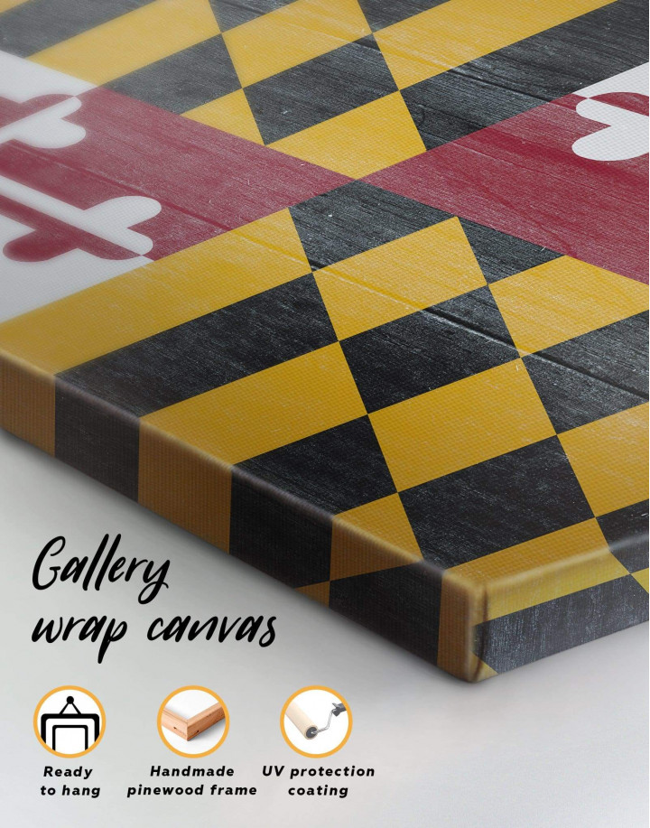 Flag of Maryland Canvas Wall Art - Image 5