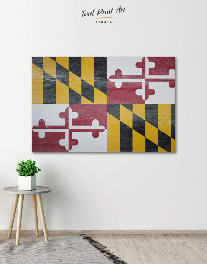 Flag of Maryland Canvas Wall Art - Image 0