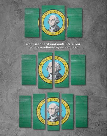 Washington State Flag Canvas Wall Art - image 2