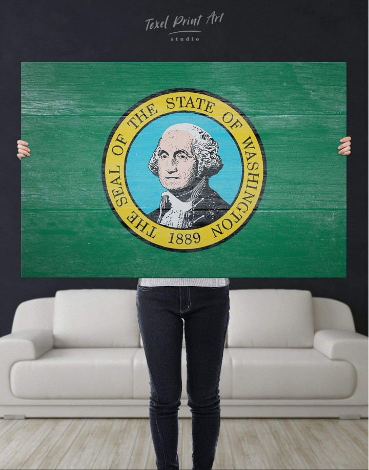 Washington State Flag Canvas Wall Art - Image 4