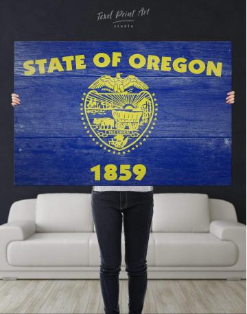 Oregon State Flag Canvas Wall Art - image 4