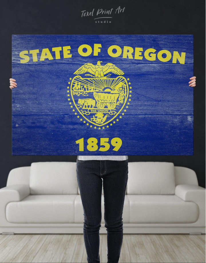 Oregon State Flag Canvas Wall Art - Image 4