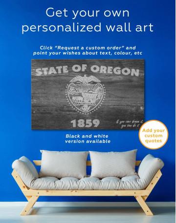 Oregon State Flag Canvas Wall Art - image 1