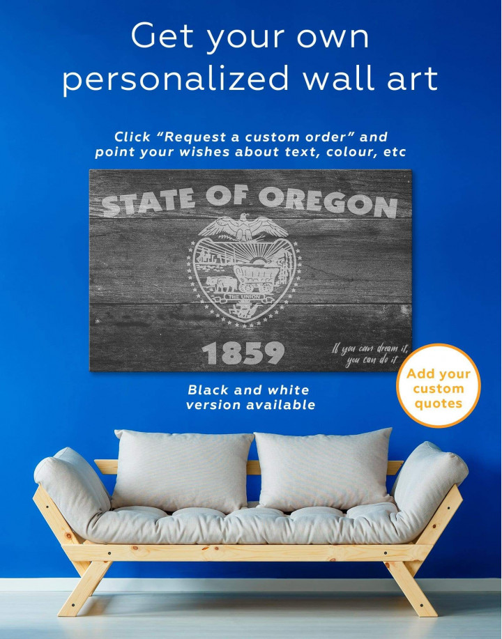 Oregon State Flag Canvas Wall Art - Image 1