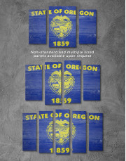 Oregon State Flag Canvas Wall Art - Image 2