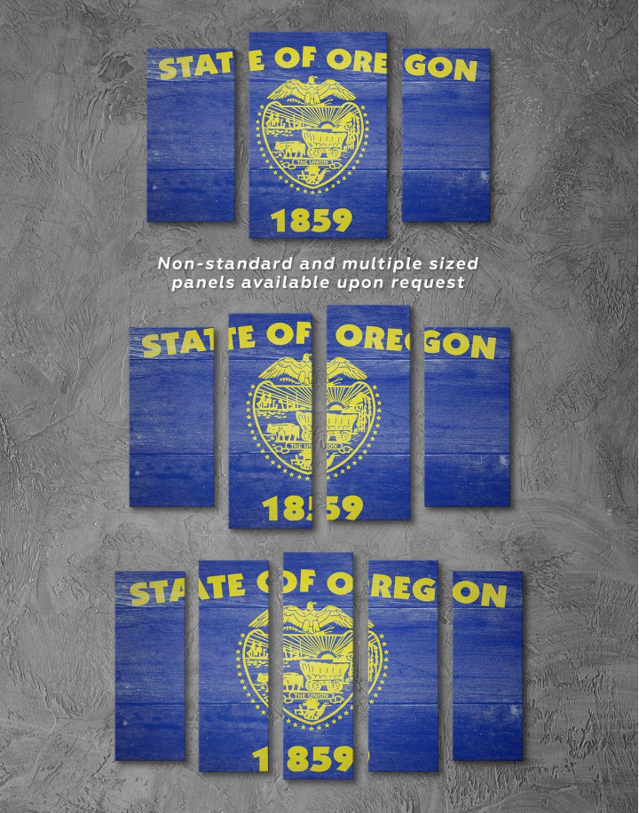 Oregon State Flag Canvas Wall Art - Image 2