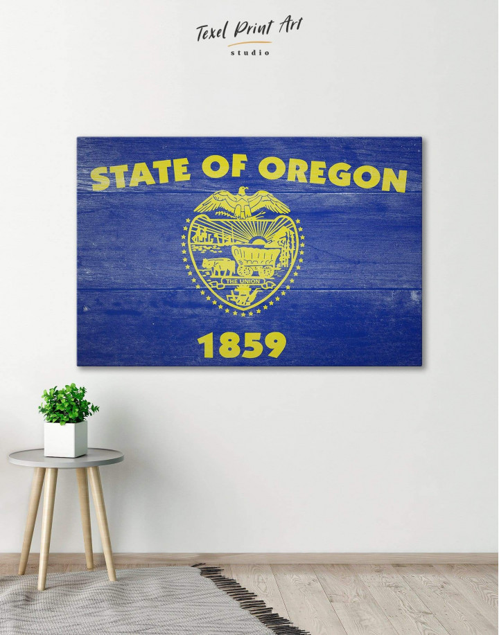 Oregon State Flag Canvas Wall Art - Image 0
