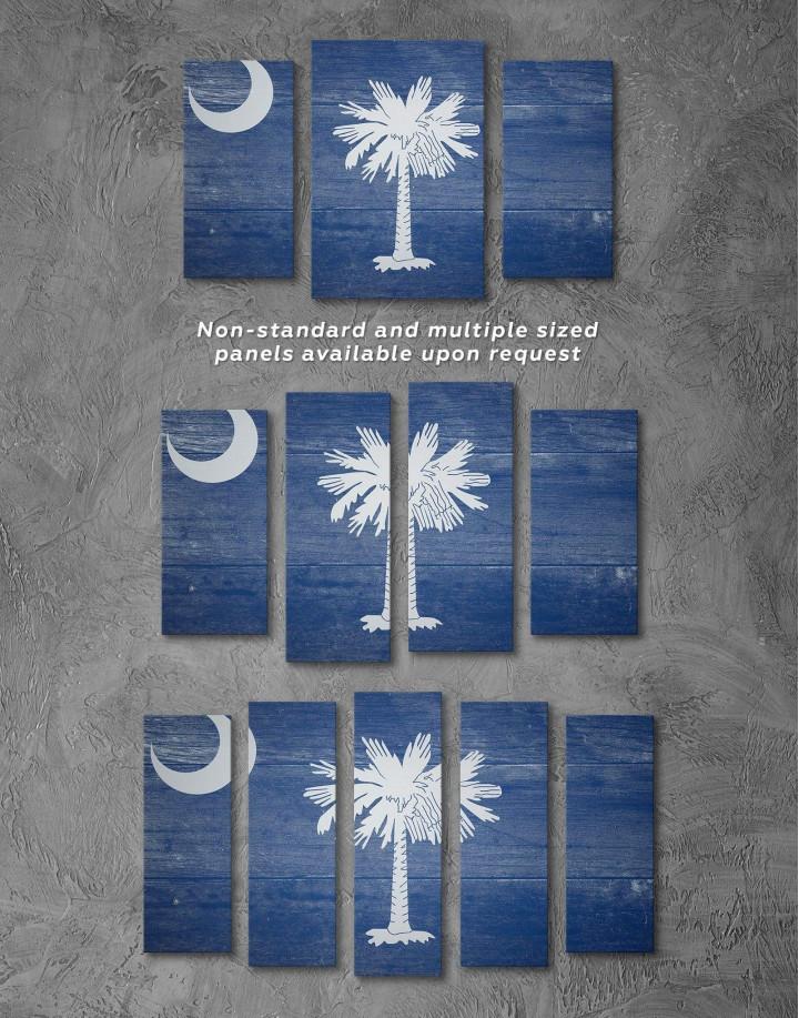 South Carolina State Flag Canvas Wall Art - Image 2