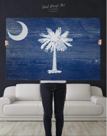 South Carolina State Flag Canvas Wall Art - image 4