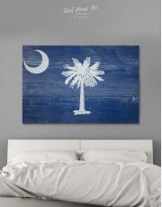 South Carolina State Flag Canvas Wall Art