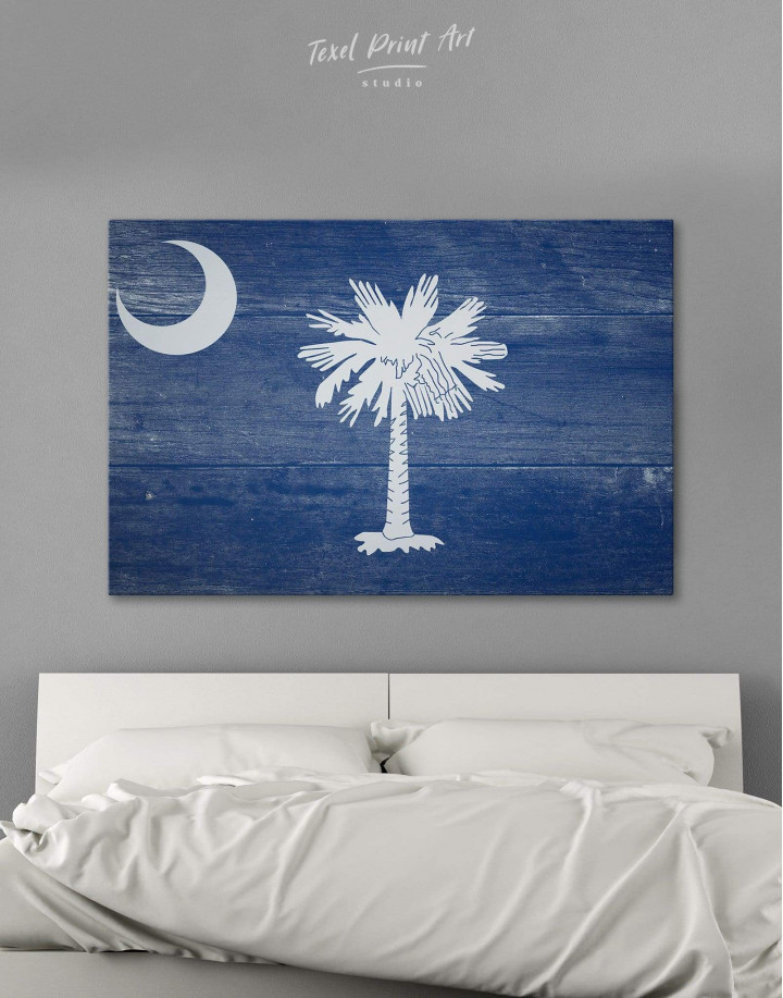South Carolina State Flag Canvas Wall Art - Image 0