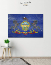 Pennsylvania State Flag Canvas Wall Art