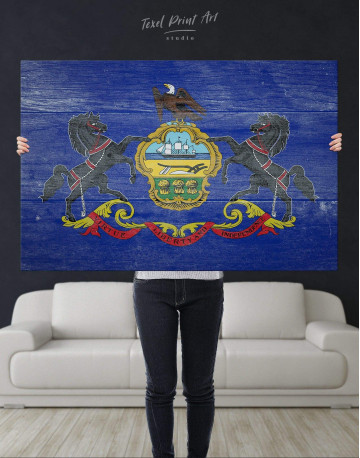 Pennsylvania State Flag Canvas Wall Art - image 4