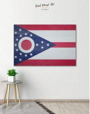 Ohio State Flag Canvas Wall Art