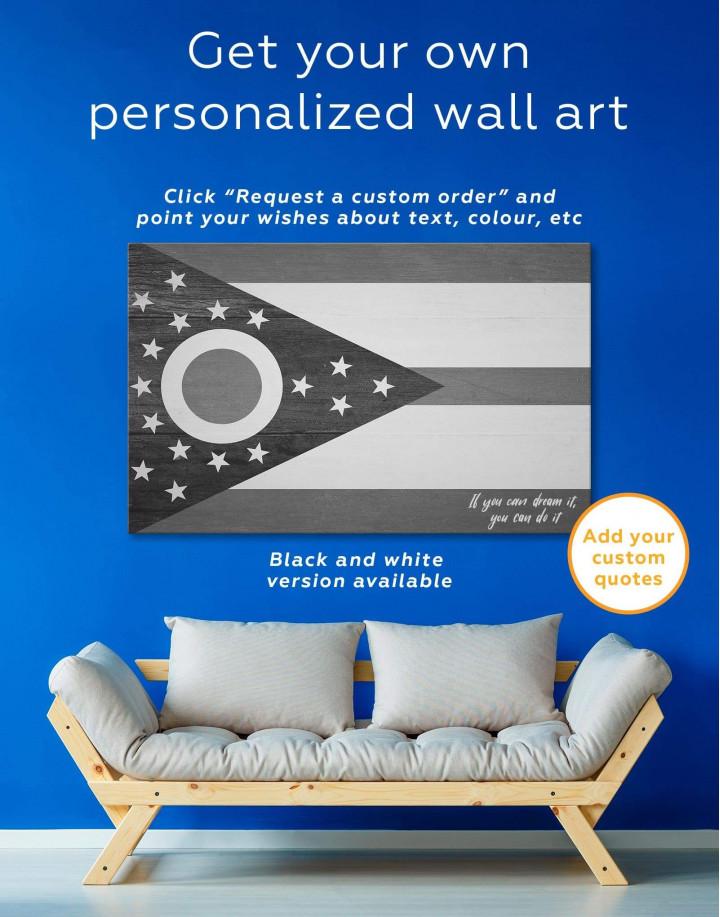 Ohio State Flag Canvas Wall Art - Image 1