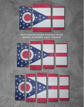 Ohio State Flag Canvas Wall Art - image 2