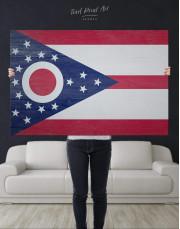 Ohio State Flag Canvas Wall Art - Image 4