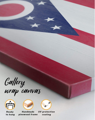 Ohio State Flag Canvas Wall Art - image 5