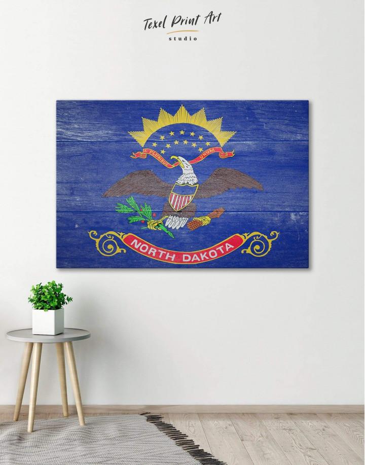 North Dakota State Flag Canvas Wall Art
