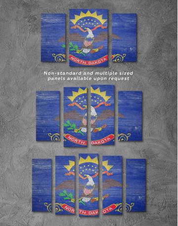 North Dakota State Flag Canvas Wall Art - image 2