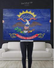 North Dakota State Flag Canvas Wall Art - Image 4