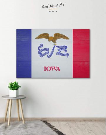 Iowa State Flag Canvas Wall Art