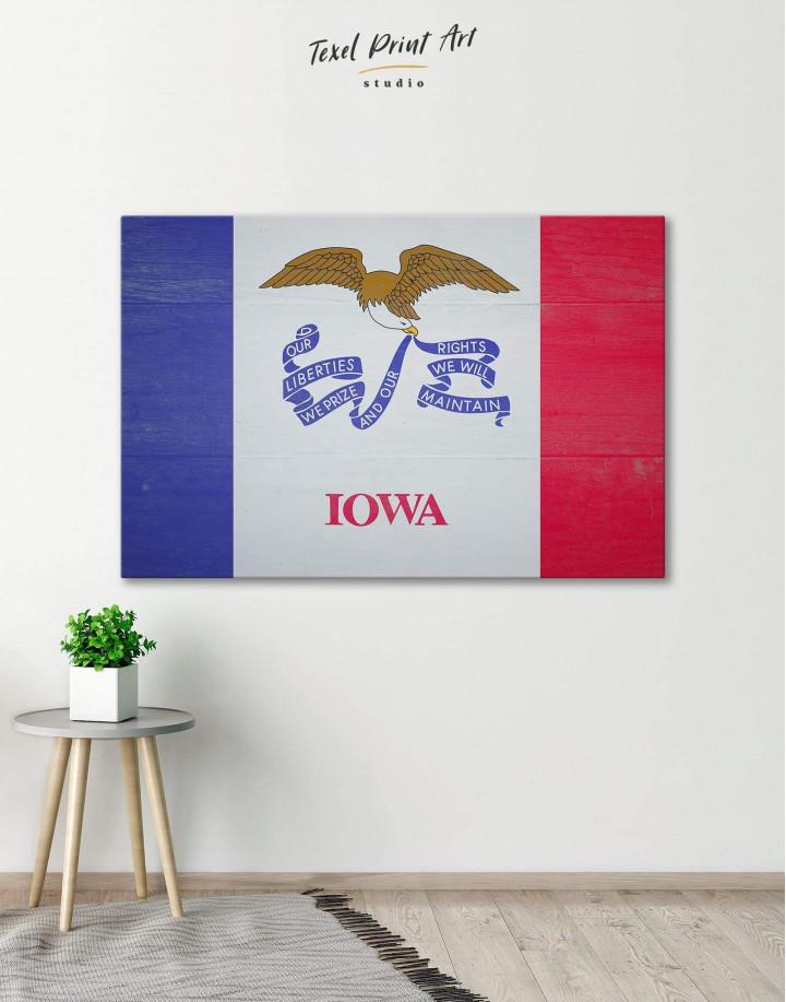 Iowa State Flag Canvas Wall Art - Image 0