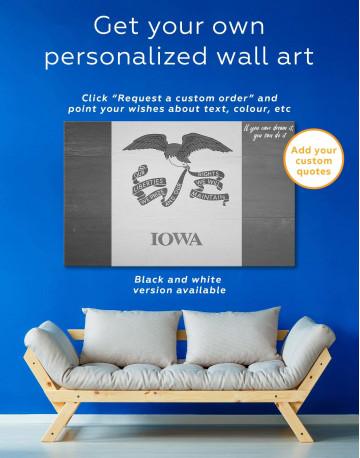 Iowa State Flag Canvas Wall Art - image 1