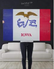 Iowa State Flag Canvas Wall Art - Image 4