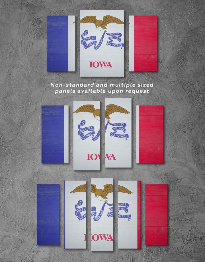 Iowa State Flag Canvas Wall Art - Image 2