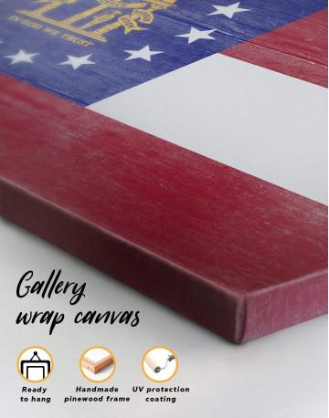 Georgia Flag Canvas Wall Art - image 5