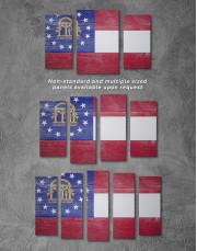 Georgia Flag Canvas Wall Art - Image 2