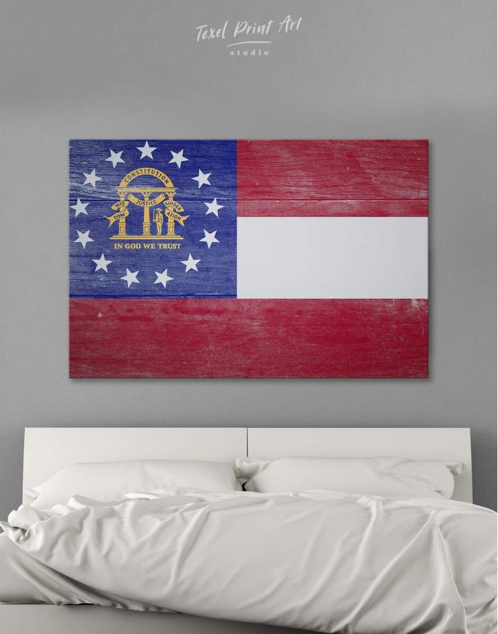 Georgia Flag Canvas Wall Art