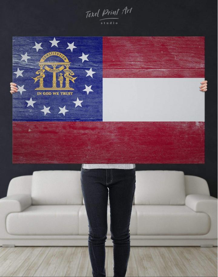 Georgia Flag Canvas Wall Art - Image 4
