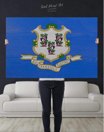 Connecticut Flag Canvas Wall Art - image 4