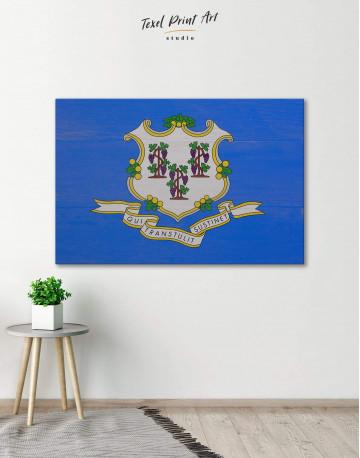 Connecticut Flag Canvas Wall Art