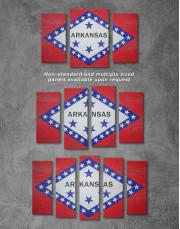 Arkansas Flag Canvas Wall Art - Image 2