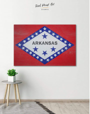 Arkansas Flag Canvas Wall Art