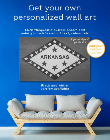 Arkansas Flag Canvas Wall Art - image 1