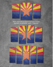 State Flag of Arizona Canvas Wall Art - Image 2