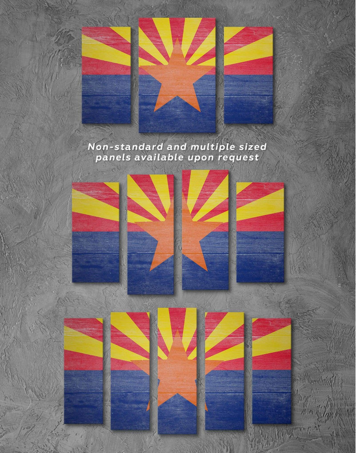 State Flag of Arizona Canvas Wall Art - Image 2